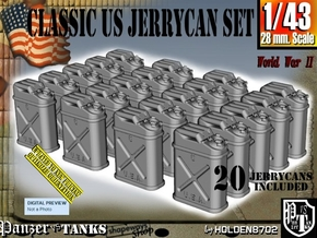 1/43 US Jerrycan x20 Set101 in Smooth Fine Detail Plastic
