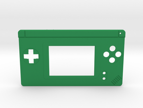 Gameboy Macro Faceplate (for DS Lite) - 4 Buttons in Green Processed Versatile Plastic