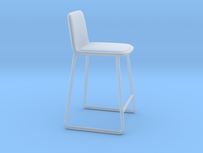 Miniature Paone Bar Stool - Paone Architecture in Smooth Fine Detail Plastic: 1:12