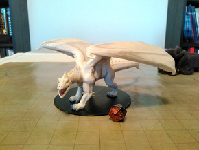 Ancient White Dragon in White Natural Versatile Plastic