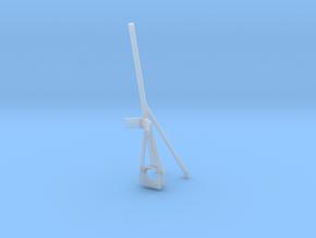 1/125 USN Fletcher Flag Pole Bow in Smooth Fine Detail Plastic