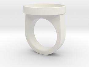 Custom ring 76 US 10 in White Premium Strong & Flexible