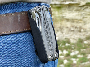 Holster for Leatherman Charge+ TTI, Closed Loop in Black Natural Versatile Plastic: Small