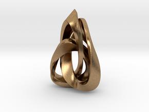 Valknut Triangle in Natural Brass