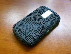 Blackberry 9000 - Fingerprint Design in White Strong & Flexible