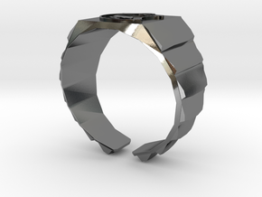 Muad'dib Ring - Flat top Variant in Polished Silver