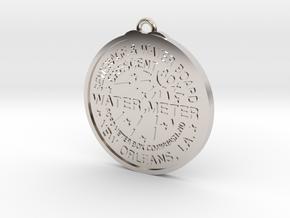 New Orleans Crescent box cover Pendant in Platinum