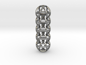 Cuboctahedron Chain in Natural Silver (Interlocking Parts)