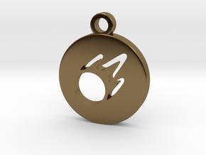 FFXIV Black Mage (BLM) Pendant in Polished Bronze
