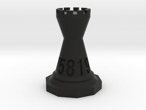 Chessdice (Solid) in Black Natural Versatile Plastic: d10