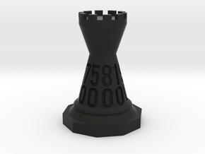 Chessdice (Solid) in Black Natural Versatile Plastic: d00
