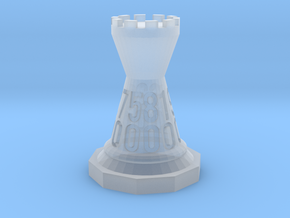 Chessdice (Solid) in Smooth Fine Detail Plastic: d00