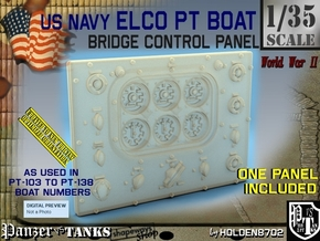 1/35 PT Boat Bridge Control Pannel Typ1 in Smooth Fine Detail Plastic