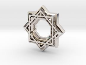 Star no diamond in Rhodium Plated Brass