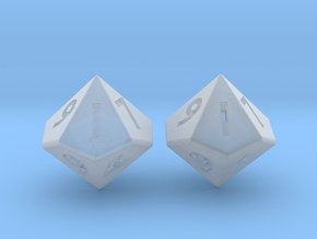 Weighted and Standard D10 Dice Set in Smooth Fine Detail Plastic