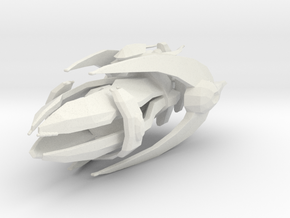 Protoss Carrier  1:20000 in White Natural Versatile Plastic