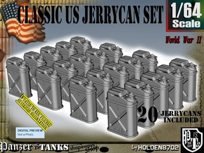 1/64 US Jerrycan x20 Set101 in Smooth Fine Detail Plastic
