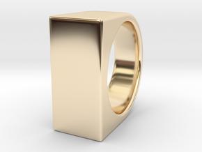 Signe Unique V - US 6  - Signet Ring in 14k Gold Plated Brass