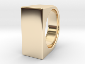 Signe Unique V - US 7  - Signet Ring in 14k Gold Plated Brass