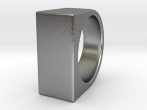 Signe Unique V - US 9 - Signet Ring in Natural Silver