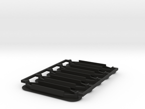Lancia Delta l Spoiler Seal plug SET in Black Natural Versatile Plastic