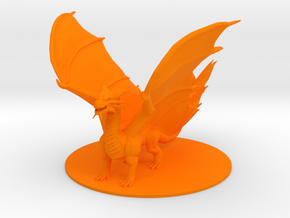 Ancient Copper Dragon in Orange Processed Versatile Plastic