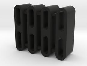 """TRX-4 - ROCK SLIDER SPACER-SHAPEWAYS ,1/2"""" in Black Natural Versatile Plastic"""
