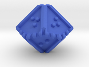 Braille Ten-sided, Blunt-tipped Die d10 in Blue Processed Versatile Plastic