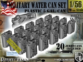 1/56 Military Water Can Set301 in Smooth Fine Detail Plastic
