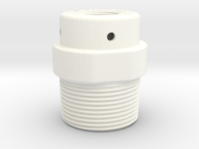 DeckFill Fitting in White Processed Versatile Plastic