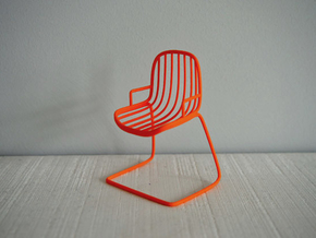 1:12 Chair complete 6 in Orange Processed Versatile Plastic