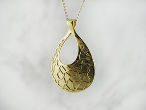Mosaic Pendant (Debossed) in Polished Brass