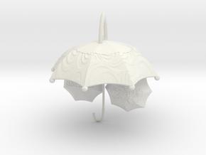 Mountain laurel and Umbrella in White Natural Versatile Plastic