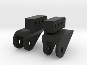 SCX10 LWB Front Leaf Mounts for Rear in Black Natural Versatile Plastic