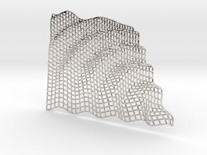 Gravity Wave in Rhodium Plated Brass