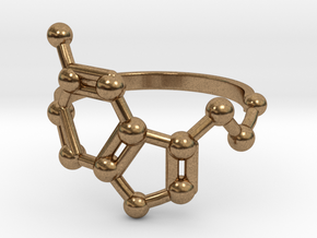 Serotonin (Happiness) Molecule Ring in Natural Brass: 6.5 / 52.75
