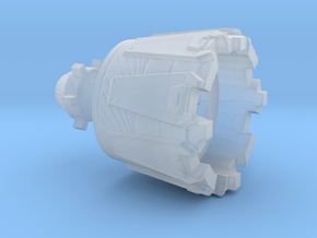 Warship Engine in Smooth Fine Detail Plastic