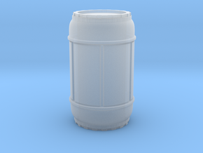 SciFi Barrel 50mm tall, 1/24 scale in Smooth Fine Detail Plastic