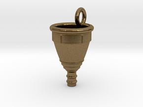 Menstrual Cup Pendant medium in Natural Bronze