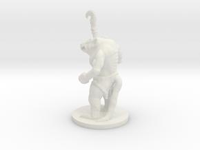 Rat Warrior on 28mm base in White Strong & Flexible