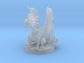 Silver Dragon Wyrmling in Smooth Fine Detail Plastic