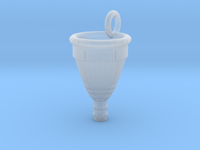 Menstrual Cup Pendant large in Smooth Fine Detail Plastic