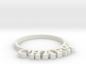 D&D Condition Ring, Charm in White Natural Versatile Plastic