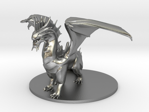 Adult Silver Dragon in Natural Silver