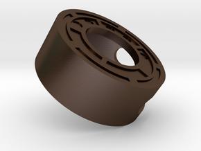 Rebel Resistance Secret Reveal Ring -Cap in Polished Bronze Steel