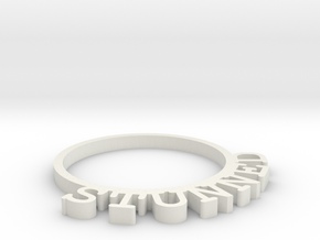 D&D Condition Ring, Stunned in White Natural Versatile Plastic