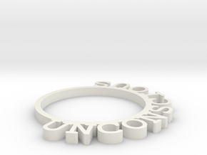 D&D Condition Ring, Unconscious in White Natural Versatile Plastic