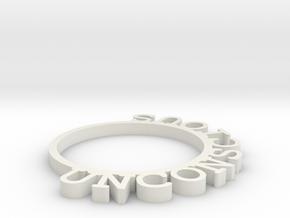 D&D Condition Ring, Unconscious in White Natural Versatile Plastic