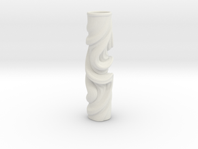 Vase 078Totem in White Natural Versatile Plastic
