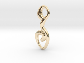 Curved line  in 14K Yellow Gold
